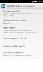 Alcatel OT-5050X Pop S3 - Internet et connexion - Activer la 4G - Étape 8