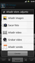 Sony Xperia U - Mensajería - Escribir y enviar un mensaje multimedia - Paso 13