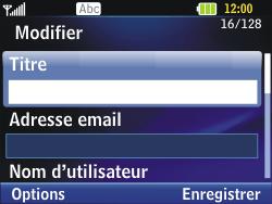 LG C320 InTouch Lady - E-mail - Configuration manuelle - Étape 14