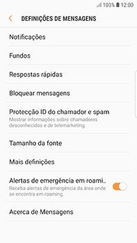 Samsung Galaxy S7 Edge - Android Oreo - SMS - Como configurar o centro de mensagens -  6