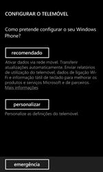 Nokia Lumia 625 - Primeiros passos - Como ligar o telemóvel pela primeira vez -  8