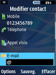 Samsung Solid 271 - Contact, Appels, SMS/MMS - Ajouter un contact - Étape 9