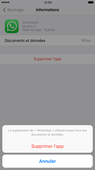 Apple iPhone 7 Plus - Applications - Supprimer une application - Étape 8