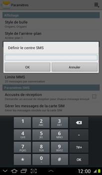 Samsung P3100 Galaxy Tab 2 7-0 - SMS - configuration manuelle - Étape 6