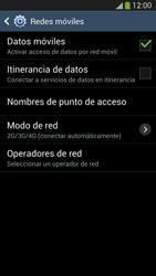 Samsung Galaxy S4 - Red - Seleccionar el tipo de red - Paso 6
