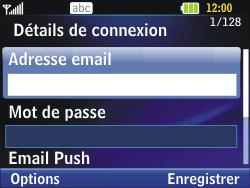 LG C320 InTouch Lady - E-mail - Configuration manuelle - Étape 5