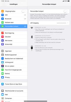 Apple ipad-pro-11-inch-2018-model-a1934 - WiFi - Mobiele hotspot instellen - Stap 4