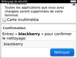 BlackBerry 9320 - Aller plus loin - Restaurer les paramètres d'usines - Étape 8