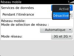 BlackBerry 9900 Bold Touch - Internet - Activer ou désactiver - Étape 6