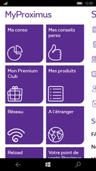 Microsoft Lumia 650 - Applications - MyProximus - Étape 18