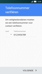 Huawei Y5 - Applicaties - Account aanmaken - Stap 6