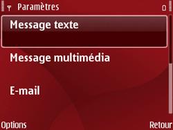 Nokia E63 - SMS - Configuration manuelle - Étape 6