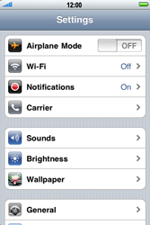 Apple iPhone 3G S - Internet - Usage across the border - Step 3