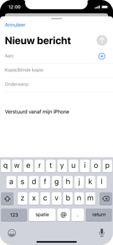Apple iphone-x-met-ios-13-model-a1901 - E-mail - Hoe te versturen - Stap 4