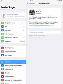Apple iPad Air 2 - iOS 11 - Software updaten - Update installeren - Stap 5