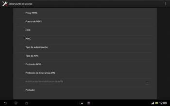 Sony Xperia Tablet Z - Mensajería - Configurar el equipo para mensajes multimedia - Paso 12