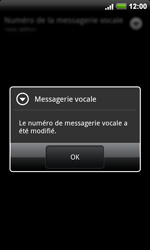 HTC A9191 Desire HD - Messagerie vocale - configuration manuelle - Étape 8