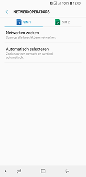 Samsung Galaxy A8 (2018) (SM-A530F) - Netwerk selecteren - Handmatig een netwerk selecteren - Stap 8