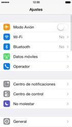 Apple iPhone 5s - Funciones básicas - Activar o desactivar el modo avión - Paso 3
