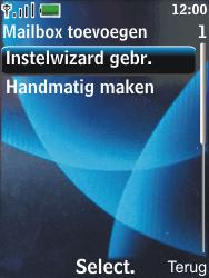 Nokia 6600 slide - E-mail - Handmatig instellen - Stap 9