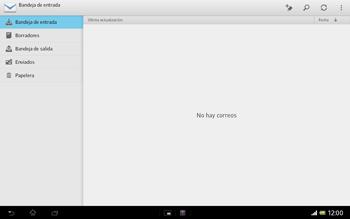 Sony Xperia Tablet Z - E-mail - Configurar correo electrónico - Paso 4