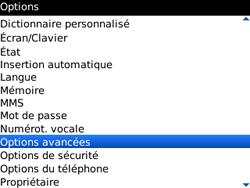 BlackBerry 9300 Curve 3G - Paramètres - Message de configuration reçu - Étape 4