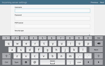 Samsung T805 Galaxy Tab S - E-mail - Manual configuration - Step 8