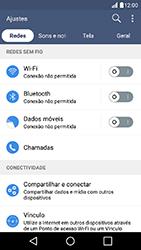 LG K10 - Rede móvel - Como ativar e desativar uma rede de dados - Etapa 6