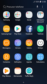 Samsung Galaxy S7 Edge - Android Oreo - Aplicações - Como pesquisar e instalar aplicações -  3