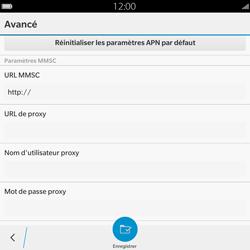 BlackBerry Passport - Mms - Configuration manuelle - Étape 12