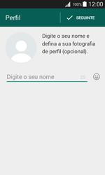 Samsung Galaxy J1 - Aplicações - Como configurar o WhatsApp -  10