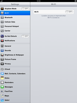 Apple iPad mini - Internet - Usage across the border - Step 3