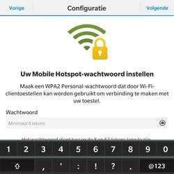 BlackBerry Passport - WiFi - Mobiele hotspot instellen - Stap 11