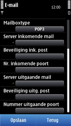 Nokia C7-00 - E-mail - Handmatig instellen - Stap 12