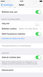 Apple iPhone 6 met iOS 9 (Model A1586) - Privacy - Cookies en geschiedenis wissen - Stap 6