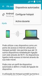Samsung Galaxy A5 - Internet no telemóvel - Como partilhar os dados móveis -  7