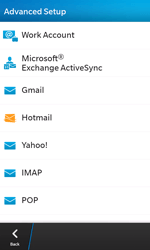 BlackBerry Z10 - Email - Manual configuration - Step 7