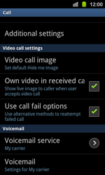 Samsung I8530 Galaxy Beam - Voicemail - Manual configuration - Step 5