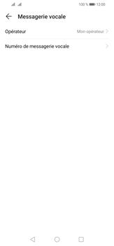 Huawei P30 Lite - Messagerie vocale - configuration manuelle - Étape 10