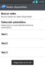 LG Optimus L5 II - Red - Seleccionar una red - Paso 11