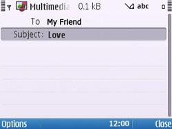 Nokia E5-00 - Mms - Sending a picture message - Step 9