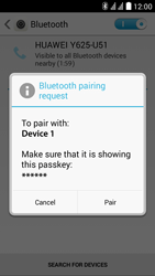 Huawei Ascend Y625 - Bluetooth - Pair with another device - Step 6