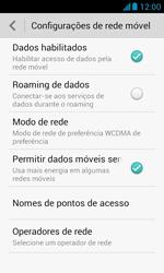 Huawei Y340 - Rede móvel - Como ativar e desativar uma rede de dados - Etapa 6