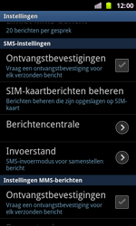 Samsung I8160 Galaxy Ace II - SMS - handmatig instellen - Stap 4