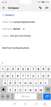Huawei P20 Android Pie - Email - Sending an email message - Step 8