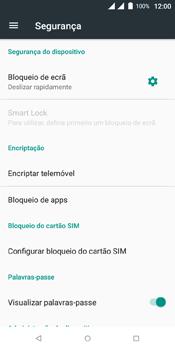 Wiko View Dual SIM - Segurança - Como ativar o código de bloqueio do ecrã -  5