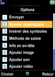 Bouygues Telecom Bc 101 - Contact, Appels, SMS/MMS - Envoyer un MMS - Étape 7
