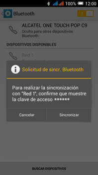 Alcatel Pop C9 - Bluetooth - Conectar dispositivos a través de Bluetooth - Paso 7
