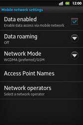 Sony ST27i Xperia Go - Internet - Enable or disable - Step 6