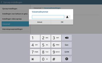 Samsung Galaxy Tab4 10.1 4G (SM-T535) - Voicemail - Handmatig instellen - Stap 9